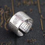 Thai silver wholesale S999 sterling silver ring <b>antique</b> crafts lovers heart opening <b>jewelry</b> gift explosion