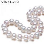 YIKALAISI 2017 100% natural Freshwater 9-10 mm pearl necklace 925 <b>sterling</b> <b>silver</b> <b>jewelry</b> high quality <b>jewelry</b> for women