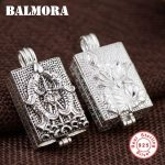 BALMORA 1 Piece 100% Real 925 Sterling Silver Vintage Fish & Lotus Flower Pendants for Women Gift <b>Jewelry</b> <b>Accessories</b> SY10906