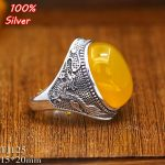 100% Sterling 925 Silver Ring <b>Jewelry</b> for Men 15*20MM Dragon Oavl Open Blank DIY Fittings Gem Base Tray <b>Antique</b> Silver