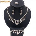 Hadiyana Brand <b>Jewelry</b> Bridal 4pcs Set Cubic Zircon Crystal Water-drop Shape Big Necklace Wedding <b>Accessory</b> <b>Jewelry</b> Sets CN143