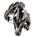 Dragon 925 Silver ring male vintage pure silver ring men's <b>jewelry</b> <b>antique</b> silver
