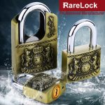 Rarelock MS539 <b>Antique</b> Padlock for Garden Gate Home Door Warehouse Car <b>Jewelry</b> Box Electric Cabinet Drawer Gym Locker 4 Keys h