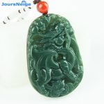 JoursNeige Natural Green Stone Pendants Unicorn pendant for Women Men Fashion <b>Jewelry</b> <b>Accessories</b>