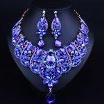 Fashion Crystal Rhinestone Bridal <b>Jewelry</b> Set Wedding Dress <b>Accessories</b> Necklace Earring Set For Brides Women