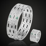 Big Green Eye Cubic Zircon Snake Bangles and ring <b>Jewelry</b> Sets for Women men Party <b>Accessories</b> cubic Zirconia Bangle&Anel Aneis