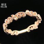 Solid 10K White Gold Bezel Set Natural Diamonds Vintage Engagement Wedding Xmas Gift Ring Band <b>Art</b> <b>Deco</b> <b>jewelry</b> Women Band