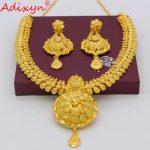 Adixyn New Elegant Dubai <b>Jewelry</b> Set For Women Gold Color flexible Choker Chain <b>Jewelry</b> African Bride Wedding <b>Accessories</b> N04188