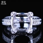 <b>Art</b> <b>Deco</b> Antique Vintage <b>Jewelry</b> 11x11mm-12x12mm Cushion Cut Semi Mount Sterling Silver 925 Wedding Anniversary Ring wholesale
