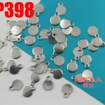 Laser engraving LOGO 5.1mm small circular stainless steel tags tail chain pendant <b>jewelry</b> label <b>accessories</b> 200-500pcs ZSP398