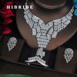 HIBRIDE Luxury Design Sparkling AAA Cubic Zirconia Pave Women <b>Jewelry</b> Sets Wedding Bride Dress <b>Accessories</b> Wholesale N-369