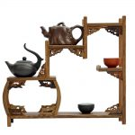 Ming and Qing furniture mahogany wenge side drum curio shelf Shelf <b>antique</b> <b>jewelry</b> swing frame factory direct