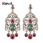 Kinel Charm Bohemian Super Big Drop Earrings For Women <b>Antique</b> Gold Crystal Vintage Wedding <b>Jewelry</b> For Earrings Gift 2018 New