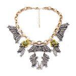 <b>Antique</b> Silver Color Pendants Enamel Flowers Costume Necklace Big-name Fashion Women <b>Jewelry</b>