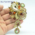 Bayliner Vintage Style <b>Art</b> <b>Deco</b> Flower Rhinestone Brooches Bouquet Brooch Pin Crystals Fashion <b>Jewelry</b> Accessories BLN6456