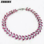 ZHHIRY Natural Ruby Gem Stone Bracelet Red Solid <b>Sterling</b> <b>Silver</b> Women Prom Real Gold Plated Party Fine <b>Jewelry</b>