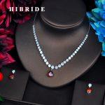 HIBRIDE Romantic Red Tear Drop Shape <b>Jewelry</b> Sets Women <b>Jewelry</b> <b>Accessories</b> Necklace Sets Spark Cubic Zirconia <b>Jewelry</b> N-559