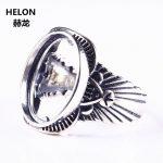 5pcs/lot <b>Art</b> <b>Deco</b> 13x16mm Oval Cabochon Semi Mount Engagement Ring 925 Sterling Silver Fine <b>Jewelry</b> Setting for Gemstone
