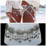 Bohemian Gypsy Women <b>Antique</b> Silver Waist Chains Boho Sexy Beach Body Chains Coins Tassel Turkish Belt Belly Chains Body <b>Jewelry</b>