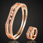 Zlxgirl <b>jewelry</b> brand rose gold color bangle ring <b>jewelry</b> sets women bridal <b>accessory</b> sets Cubic zircon copper bangle 2201100191