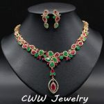 CWWZircons Luxury CZ Necklace and Earrings Wedding Party <b>Accessories</b> Bridal <b>Jewelry</b> Sets For Brides Wedding Dress T076