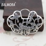 BALMORA 100% 925 Sterling Silver <b>Jewelry</b> Vintage Hollow Flower Charms Pendants for Necklaces Women <b>Accessories</b> Gift SY10618
