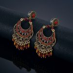 New Retro <b>Jewelry</b> Gold Color Indian Earrings Brincos <b>Accessories</b> Chandelier Earrings Stud Earrings For Women Gift , brincos
