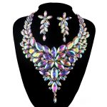 Aurora AB Marquise <b>jewelry</b> sets crystal rhinestone Necklace sets Bridal wedding party Necklace earrings <b>Accessories</b>