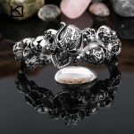 Kalen New 316 Stainless Steel Multiple Skull Bangle Rock Punk Biker Bangle Bracelet For Men Cool <b>Jewelry</b> Gothic <b>Accessory</b> Gift