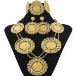 Fashion Italian Women Crystal Long Round Necklace <b>Jewelry</b> Sets Gold Wedding Dress Dubai Bride Earrings <b>Jewelry</b> <b>Accessories</b>