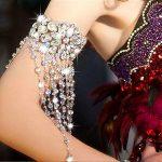 Handmade Women Silver Flower Rhinestones crystal Hand arm Chain Bridal Wedding Tassel ribbon Bracelet <b>Jewelry</b> <b>Accessories</b>