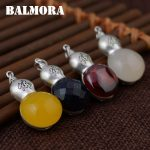 BALMORA 1 Piece Real 990 Pure Silver Gourd Pendants Women Men <b>Accessories</b> Gifts 4 Colors Vintage Buddhistic <b>Jewelry</b> MN12348