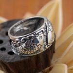 Deer King <b>jewelry</b> wholesale silver ring S925 sterling silver ring <b>antique</b> <b>jewelry</b> craft Niannian Youyu