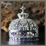 European Retro Korean Princess <b>Jewelry</b> Box Vintage Jewellery Crown Case Metal Zinc Alloy <b>Jewelry</b> Storage Box Ring Storage Women