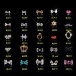 100PCS new Alloy Nail <b>Art</b> Tips Stickers <b>Deco</b> Bow Knot Alloy <b>Jewelry</b> Multicolor Glitter Rhinestone nail gel/947-971(20designs)