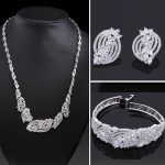 Beautiful Design for Women Cubic Zircon Bridal <b>Accessories</b> Set Statement look Fashion Rhodium Color Luxury <b>Jewelry</b> set