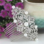 Bella Fashion <b>Art</b> <b>Deco</b> Bridal Austrian Crystal Hair Comb Headpiece Simulated Pearl Wedding Hair Comb For Bridesmaid <b>Jewelry</b> Gift