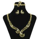 New African Hook Design Crystal Necklace Fashion Dubai <b>Jewelry</b> <b>Accessories</b> Elegant Lady Bride Wedding <b>Jewelry</b> Sets Free Shipping
