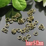 500G/PIECE Wholesale <b>Antique</b> Bronze IRON Based 5/6/8/10/12mm Opening Split Ring Accessories for <b>Jewelry</b> Making