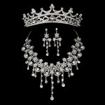 Korean flower Bridal Wedding headwear <b>Jewelry</b> Sets Womens Jewellery Vintage Crystal Pendant <b>Accessories</b> Fashion