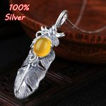 9*11mm 100% Pure Silver Feather Pendant Blank set with turquoise amber honey wax south red <b>Antique</b> silver