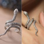 100% Real Genuine 925 Sterling Silver Open Size Snake Adjustable Ring Men Womens Finger Rings <b>Antique</b> Solid Silver <b>Jewelry</b>