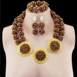 African Costume Gold-color Disc Crystal Wedding Women Bridal <b>Accessories</b> nigerian dubai African Beads <b>jewelry</b> sets