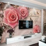 Custom 3D Wall Cloth <b>Antique</b> Stereoscopic Pink Rose <b>Jewelry</b> TV Background Wall Wall Mural Living Room Sofa Wallpaper Home Decor