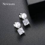 NEWBARK Classic Fashion Stud earrings Simulated-Pearl <b>Jewelry</b> Women's Elegant Long Stud Earrings For Girls <b>Accessories</b>