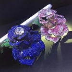 Blue Rose Flower brooch pins 925 <b>sterling</b> <b>silver</b> with cubic zircon big flower brooch for coat exaggerate fashion women <b>jewelry</b>