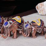 <b>Antique</b> 5pcs/set Thailand elephant decor statute metal <b>jewelry</b> box for souvenir colored elephant trinket box glod elephant craft