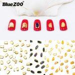 10Pcs/Lot DIY Nail Alloy <b>Art</b> <b>Deco</b> <b>Jewelry</b> Retro Marble Pattern Amber Shell Stones for Nails Decorations 3D Metal Accessories