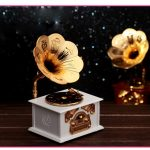 Classical Retro Styling Gramophone Music Box with <b>Jewelry</b> Drawer for Home Decoration & Lovers Gift Caixa De Musica 125*103*215mm