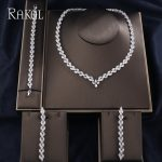 RAKOL Clear Color AAA Cubic Zircoia Long Earrings Necklace For Women Fashion Bracelet Jewelies Sets Wedding <b>Accessories</b>